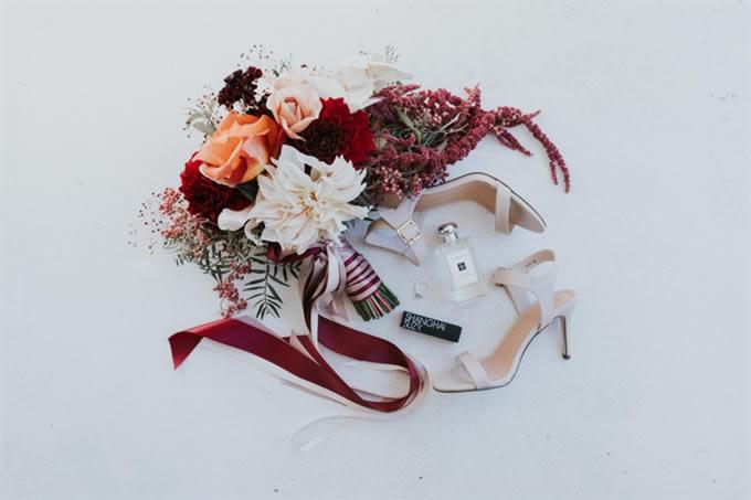 bruidsboeket trends linten