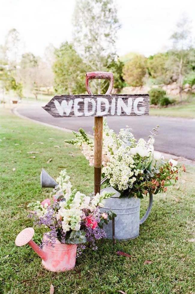 Houten weddingbord