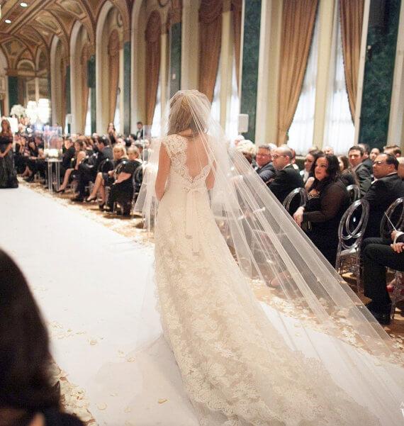 Kapel lengte bruidssluier