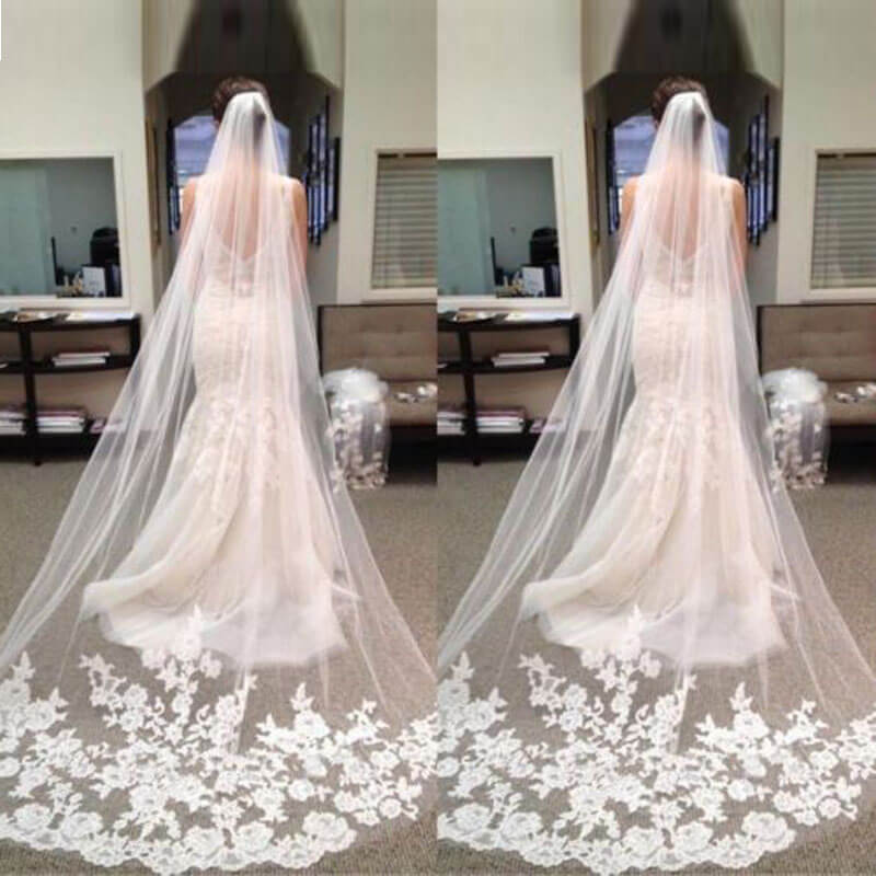 Vloer lengte bruidssluier