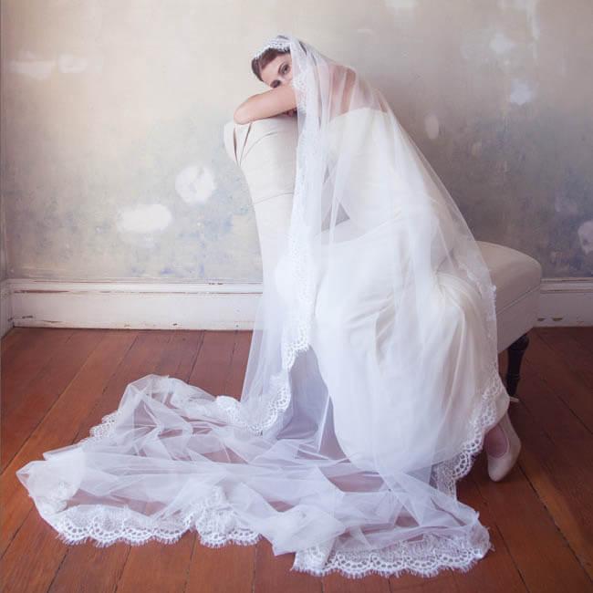 Kathedraal lengte bruidssluier