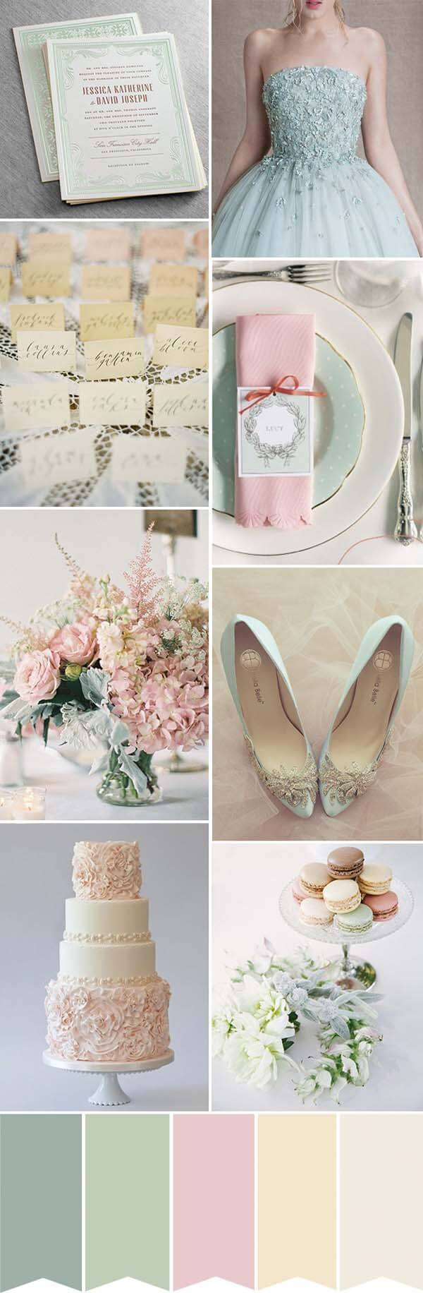 olijf groen met blushroze thema bruiloft