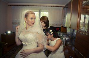 Bruid ochtend trouwdag