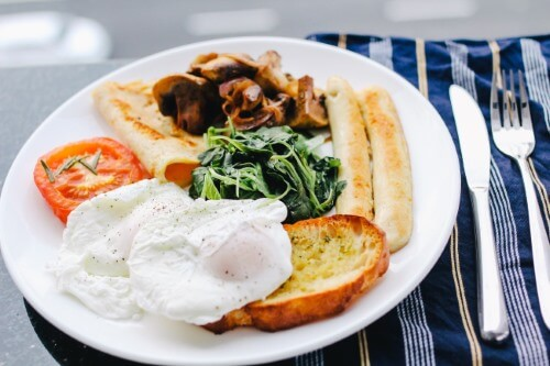 Ontbijt voor de bruid