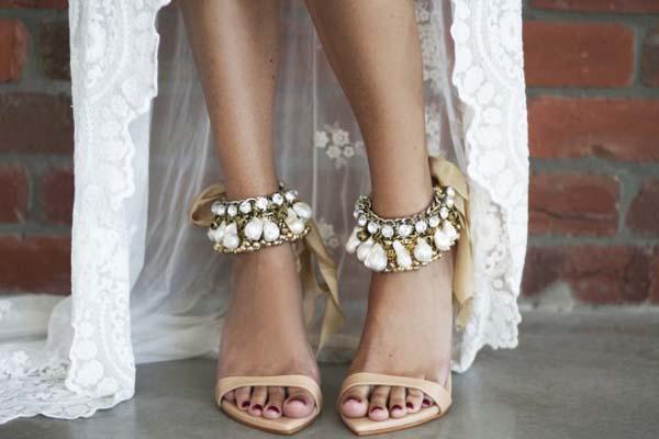 Trouwschoenen sandalen boho