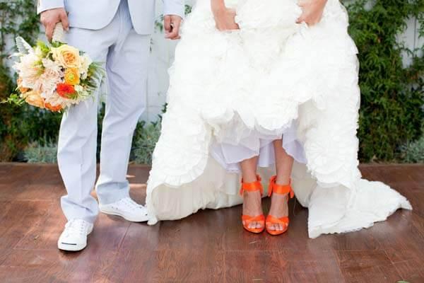 gekleurde trouwschoenen