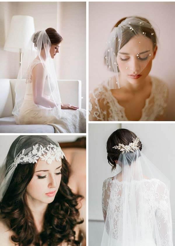 Bruidssluiers soorten-type