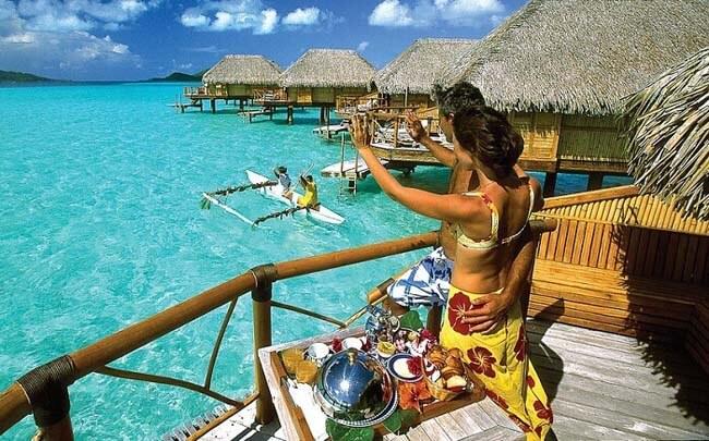 Huwelijksreis Bora Bora