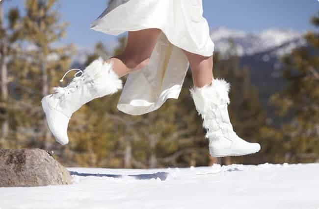 snowboots voor de bruid