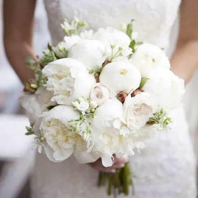 Bruidsboeket witte tulpen