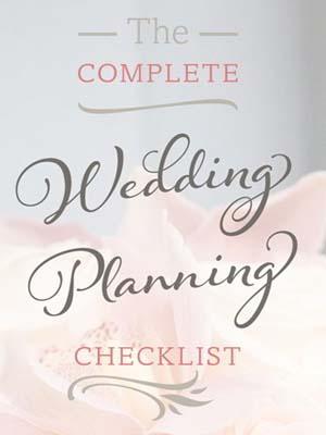 Planning checklist huwelijk