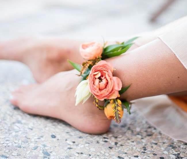 Enkel corsage bruid