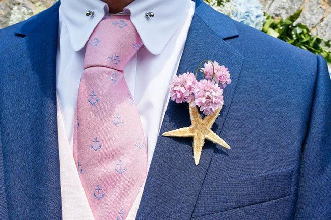 Zeester corsage bruiloft
