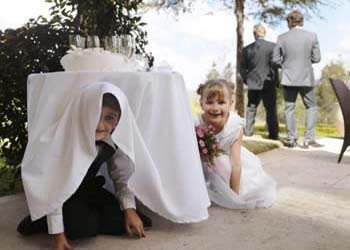 Geen kinderen op bruiloft