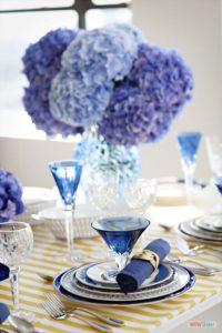 Decoraties bruiloft huwelijk blauw