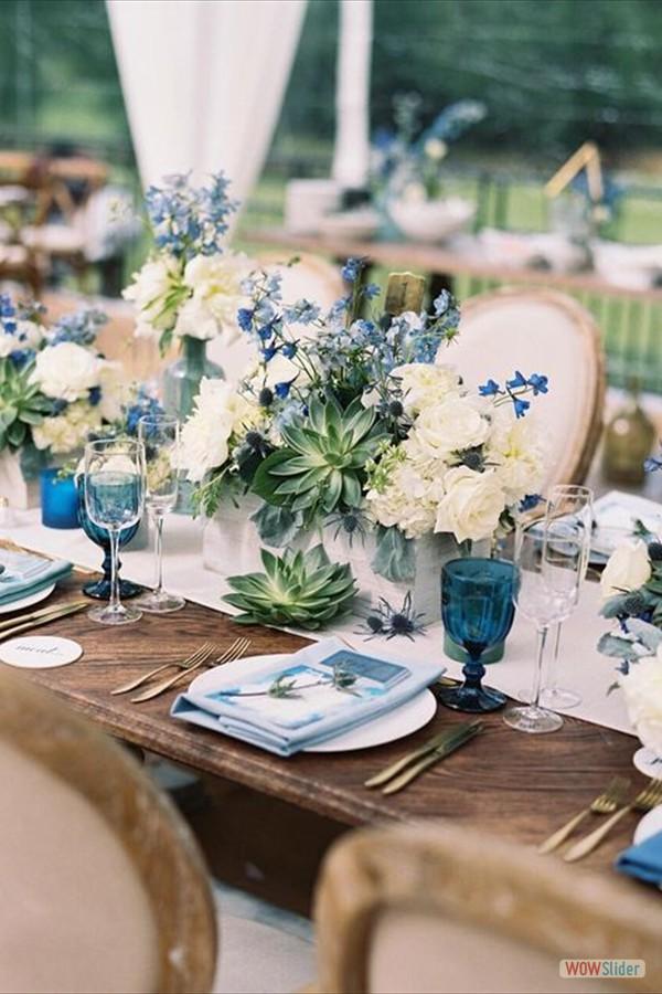 Tafeldecoraties blauw