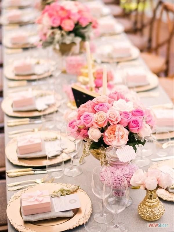 Tafeldecoraties bruiloft