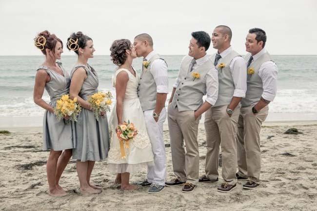Oneven getal bruidsmeisjes en groomsmen