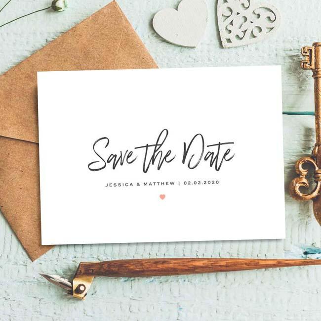 Save the date kaarten sturen