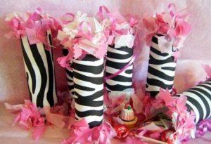 Zebra print decoratie huwelijk