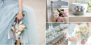 Bruiloft thema blauw-roze