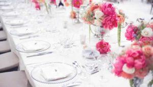 Tafel decoraties huwelijk