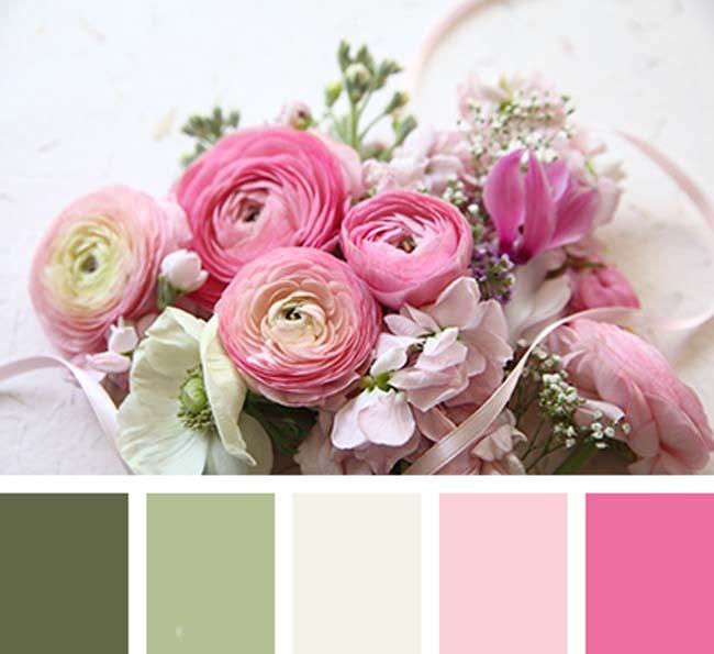 Bruiloft thema kleuren combineren