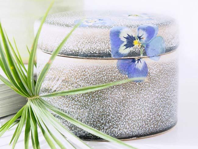 Geperste bloemen lente bruiloft