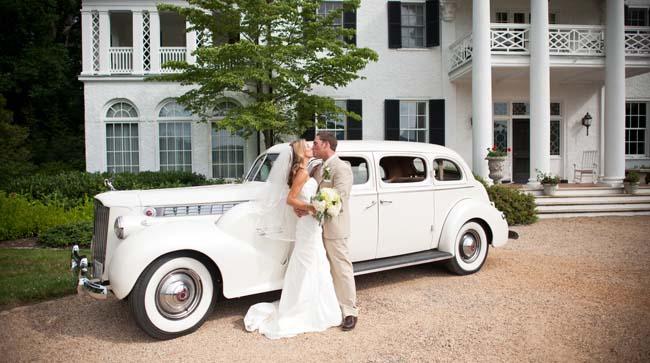 klassieke bruidsauto