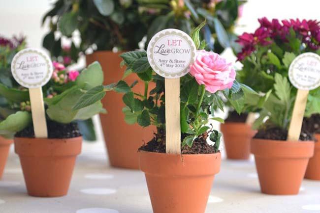 plante als bedankje lente bruiloft