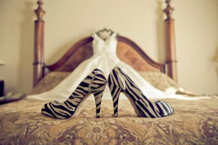 Bruiloft thema zebraprint